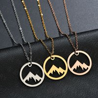 3 Style Cute Snowy Mountain Top Range Collane Simple Modern Minimalist Collana Nature Landscape Landscape Collana e ciondoli per le donne