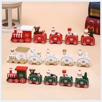 Christmas Creative Toys For Child Christmas Wooden Train Gif...