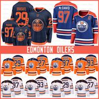 Edmonton 97 Connor McDavid oclers Hockey Jerseys 29 Leon Draisaitl 93 Ryan Nugent-Hopkins 27 밀라노 Lucic 99 Wayne Gretzky 유니폼
