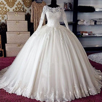 New Designer Ball Gown Wedding Dresses Turkey Vestidos de No...