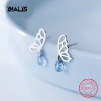 INALIS New Romantic 925 Sterling Silver Stud Earrings For Wo...