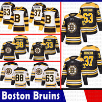 Mens Boston Bruins 33 Zdeno Chara Hockey Jerseys 37 Patrice Bergeron 63 Brad Marchand 88 David Pastrnak 4 Bobby Orr Jersey 2018 2019 Nouveau