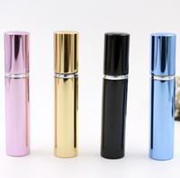 7ml bouteille de parfum pipe en aluminium bouteilles lumineuses atomiseur Verre de voyage bouteille rechargeable Parfums de maison LX4285