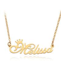 Personalisierte Kundenspezifische englischer Name Halsketten-Armband für Frauen Männer Edelstahl Brief Anhänger Charme Gold Silber Ketten Fashion Jewelry