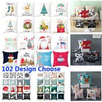 Indoor Decorações de Natal capas de almofadas para a árvore de Natal Papai Noel Feliz Natal Impresso Throw Pillow Caso Cove Home Decor HH9-2506