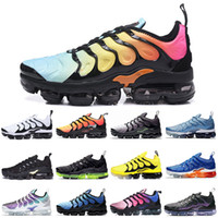 Nike Air Vapormax TN Plus Nueva llegada Zapatos de diseñador para hombre Negro Volt Bumblebee Megatron Sunset blanqueado aqua Game Royal Fashion Designer Women Shoes Sneakers