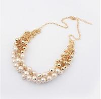 Europee e americane grande temperamento Retro Beauty Palace perla simulata Normativa collana per le donne N214