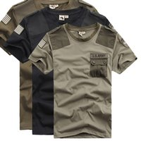 Tactical T-shirts Mens Airborne Division Bomber militar do exército Crossfit Combate manga curta Tops Algodão respirável Quick Dry Tees