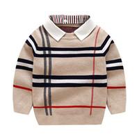 Erkek Sweatershirt Sonbahar Kış Marka Kazak Ceket Ceket Toddle Için Bebek Erkek Kazak 2 3 4 5 6 7 Yıl Boys Giysileri