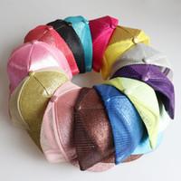 성인 일반 솔리드 포니 테일 야구 모자 지저분한 빵 모자 트럭 조랑말 모자 반짝이 스팽글 아빠 모자 메쉬 여름 야외 스냅 백 13 색