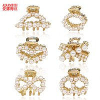 AINAMEISI High Quality Pearl Hair Rhinestone Alloy Hairpin H...