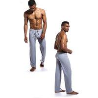 Plus Size Mens Sonno Bottoms Pigiama uomo Lounge indossare pantaloni confortevole Maschio casa indossare biancheria intima degli indumenti soft Pigiama Pantaloni