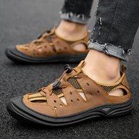 راحة حقيقية في ساندليس بلاج الرياضية سميكة LETHER المياه حذاء دي النعال صنادل الصنادل الفلين sandalias المشي تجميع 39