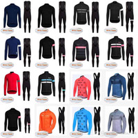 Rapha Strava Team Radfahren Winter Thermal Fleece Jersey (Lätzchen) Hosen Sets Fahrradkleidung Quick-Dry Bicycle Sportwear Ropa Ciclismo E1520