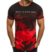 2019 T-shirt homme T-shirt camouflage à manches courtes T-shirt homme T-shirts col militaire armée vêtements homme t-shirt homme tops WGTX13