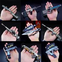 Yeni Apex Legends oyunu Savaş Royale Action Figure Tabancası Modeli 21 cm Alaşım Silahlar Apex Legends Anahtarlık