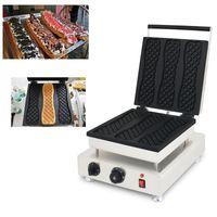 110 v 220 v yapışmaz Kore Süper Uzun Waffle makinesi Elektrikli 3 Kalıpları Waffle Pizza Makinesi Demir Baker Yapma Pan Izgara