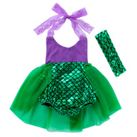 Baby Girls Clothing Kids Mermaid Romper Newborn Sequin Dress...