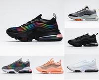2020 nouvelle libération Zoom 950 tn, plus 270 coussin chaussures de course hommes womes Black Rainbow Run ZM950 Sport Formateurs Femmes Noir Blanc Chaussures de sport