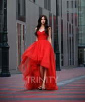 Bright Red Tulle Sweetheart Beads Evening Dresses Special Oc...