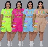 Womens outfits short sleeve 2 piece set tracksuit jogging sportsuit shirt shorts outfits sweatshirt pants sport suit hot selling klw3911