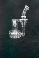De alto valor artístico y valor de la colección suministros de cristal de 14 mm Recycler Bong plataforma independiente de diseño de fábrica al por mayor y al por menor