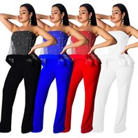 dccca7ca75b New Arrival. 2019 New Arrivals Stunning Pearls Women Jumpsuits and Rompers  Strapless Neck Sleeveless Party Club Straight Pants Outfits Sexy Jumpsuits