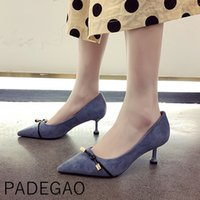 Spring Women Casual High Heel Shoes Bow Shallow Korean Style...