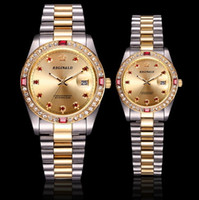 Lovers' Couple Datejust Gold Women Mens Designer Watche...