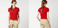 Venda Quente Marca CRCODile Polo Camisa Mulheres Manga Curta Camisas Casuais Camisas Polo Sólido Plus Camisa Polo Mulher Designer Peru Lady Roupas