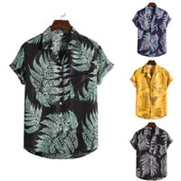brand Men' s Shirt Summer High Quality Breathable Hawaii...