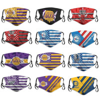 2020 nouvelle 5 couche équipe de basket-ball masculin masque de poussière Lakers Kings Bulls Mavericks Pacers 76ers garçon de mode masque de basket-ball respirant