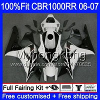 Injection Body + Tank per HONDA CBR 1000 RR CBR 1000RR 06-07 276HM.25 carenatura calda bianca CBR1000RR 06 07 CBR1000 RR 2006 2007 Kit carenature OEM