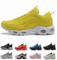 2019 New Mens 97 Plus Shoes Giallo Nero 97 OG Running Shoes Nero Bianco Trainer Sneakers Cushion Traspirante Uomo Walking Scarpe sportive
