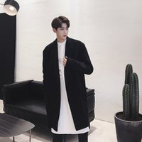 2019 New Mens Woolen Coat Super Temperament Classic Black Co...