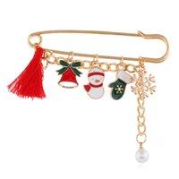 2020 عيد الميلاد بروش قلادة سحر الحجاب دبابيس للمرأة ندفة الثلج الغزلان شجرة الجوارب سانتا بروش للنساء مجوهرات اكسسوارات أزياء