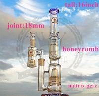Corona Glass Bong American Материал Водопроводная Труба Масляный Выгрешк Рециркулятор Стекло Bong Курение Труба DAB Рифей Кальян с Бэнгер Фиолетовый, Зеленый Цвет