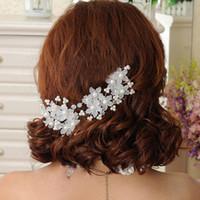 3 штуки новые свадебные аксессуары для волос Цветы цветы бусины невесты волосы жемчужные булавки гребень свадебные платья аксессуар Очаровательные наушники HD128