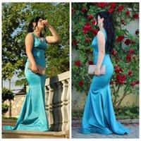 Vestidos de fiesta sencillos con cuello en V de sirena delgada 2020 Personalizado Tallas grandes Vestido largo de mujer formal Evneing Barato
