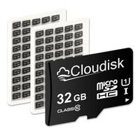 Original Cloudisk 마이크로 SD 카드 32GB 64GB 16GB 8GB 4GB 2GB 1GB 100 % 실제 용량 DHL 무료 배송 TF MicroSD 메모리 카드 32GB 16GB 8GB