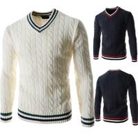 Maglioni pullover Mens Maglioni di colore naturale Maglioni di colore naturale Casual Collo a V Abbigliamento a maniche lunghe Abbigliamento per uomo
