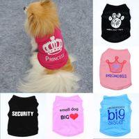 DHL-freie Marke Hundekleidung-Kleid-Katze-Sommer-Weste Kleine Pullover Pet Versorgung Karikatur-Kleidung T-Shirt Welpen-Chihuahua Günstige Overall Outfit