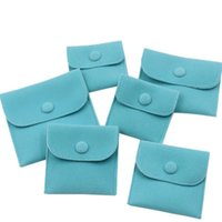 스냅 패스너 방진 보석 스토리지 가방 녹색 색상 벨벳 보석 선물 포장 가방 작은 봉투 모양의 파우치