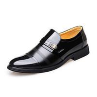 2019 Yüksekliği artan 6 CM resmi Ayakkabı Erkekler Deri Elbise Ayakkabı Erkekler Erkekler Için Patent Deri Kaliteli Oxford Ayakkabı Iş İngiliz Tarzı Daireler