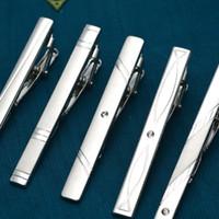 Новая простой металл серебро заколки для галстука для мужчин Свадебной галстука Застежки Джентльменной TBAR Кристалл Tie Pin для Mens подарка