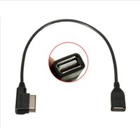 미디어에서 어댑터 A3 골프 MK7 MK6 인터페이스 USB 어댑터 케이블 맞추기 아우디 AMI MMI 폭스 바겐 스코다 멋진 MDI의 USB 자동차 오디오 MP3 음악