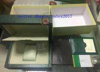 2019 Mens Con Interno Esterno Scatola originale di legno Scatole per orologi Carte Documenti di certificazione Carta Manuale Traduzione Portafoglio 116610 116660 7750