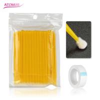 Micro-brosses Set de cils rallongés jetables Fourniture de ruban de greffe Cils Cils individuels Cils Accessoires Outil de beauté