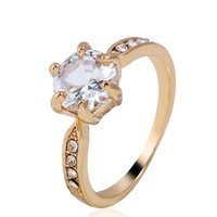 Wholesale- rings with side stones for women fashion wedding ...