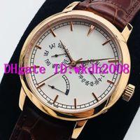 AI Traditionnelle 85290 швейцарские часы Swiss 2475SC автоматические механические 28800 VPH Дата День Power Reserve Дисплей 18K Rose Gold Casual Часы